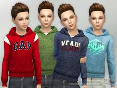 The Sims Resource: Hoodie for Boys P12 by lillka • Sims 4 Downloads