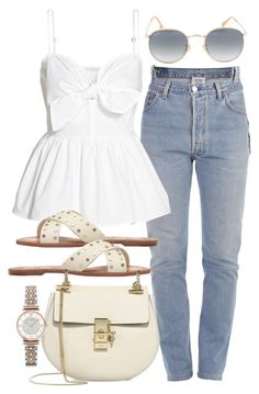 A fashion look from April 2017 featuring cami shirt, vetements jeans and real leather shoes. Browse and shop related looks. Mode Outfits, Fashion Outfits, Fashion Trends, Fashion Tips, Look Fashion, Korean Fashion, French Fashion, Winter Fashion, Polyvore Outfits
