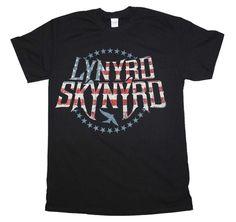 "Lynyrd Skynyrd ""STRIPES AND STARS""  men's T-Shirt 100% cotton  FREE SHIPPING  #ManorMusicStorecom…"