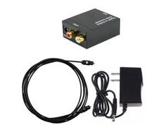 iMeshbean Coaxial or Toslink Digital Audio Signals to Analog L/R Audio Converter USA