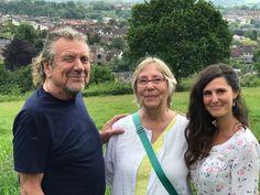 Robert Plant with Deborah Rose, and Nerburn's wife Louise Mengelkoch, 1 June 2017, Wales