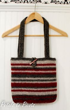 """Free pattern for """"Felted Bag"""" & How to Felt from Petals to Picots!"""