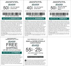 Pinned October 27th: 50% off a single item & more at #JoAnn Fabric or online via promo code SAVEFIFTY301 #coupon via The #Coupons App