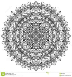 Find Mandala Round Ornament Pattern Vintage Decorative stock images in HD and millions of other royalty-free stock photos, illustrations and vectors in the Shutterstock collection. Mandalas Drawing, Mandala Coloring Pages, Colouring Pages, Zentangles, Coloring Books, Mandala Pattern, Mandala Design, Elefante Hindu, Ornament Pattern