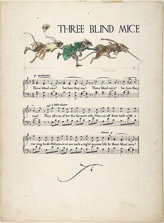 """Three Blind Mice"" Paul Vincent Woodroffe (British (born India), Madras 1875–1945 Eastbourne)  Date:     1906–7"