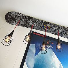 Burton Snowboard Pendant perfect for teen boy's room!