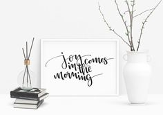 Print *JOY* by A&O PRINTS – Papeterie * Lettering * HomeDecor | Motivational Prints, Postcards and more | Words and Quotes to live by, Brushlettering