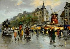 Париж начала ХХ века глазами Антуана Бланшара и Эдуарда Кортеса (360 работ)