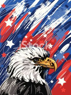 Self illustrated Patriotic Background, all elements are in separate layers, easy to edit. Please visit my portfolio for more options. Please see more related images on these lightboxes: Bird Canvas, Acrylic Canvas, Canvas Art, Canvas Ideas, Patriotic Background, Eagle Painting, Canvas Painting Tutorials, Painting Techniques, Wine And Canvas