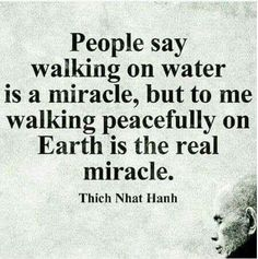 Walk peacefully...