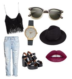 """#Summer"" by kgbo2 on Polyvore featuring Belleza, Olivia Burton, Zara, H&M y Monki"