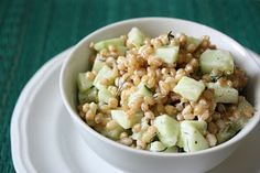 Cucumber Dill Wheat Berry Salad