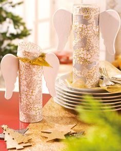 Engel aus PappArt mit Décopatch-Papier - Weihnachten - Geschenke & Co.