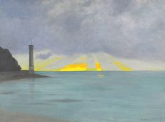 """Le phare, soir"" by Felix Vallotton, 1915"