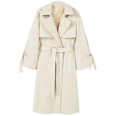 Decorative Bows Trench (8.555 RUB) ❤ liked on Polyvore featuring outerwear, coats, white coat, fur-lined coats, lined trench coat, cotton coat and mango coats