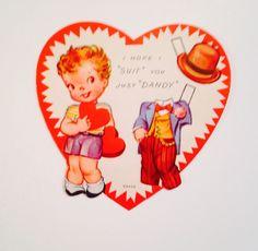 Vintage Valentine Paper Doll Boy 1950'S   eBay