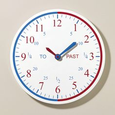 Time Teacher Wall Clock (one of The Independent's Back to School 'Best Buys') - Clocks - Bedding & Room Accessories