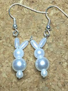 Pearly Bunny Earrings