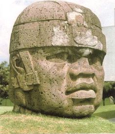 The Olmec colossal heads are at least seventeen monumental stone representations of human heads sculpted from large basalt boulders. The heads date from at least before 900 BC and are a distinctive feature of the Olmec civilization of ancient Mesoamerica (Gulf Coast of Mexico). Believed by most African American historians to be of images of African explorers that came to that area.
