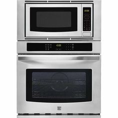 Kenmore 49603 Microwave Wall Oven Combination in Stainless Steel, includes delivery and hookup ** Continue to the product at the image link. (This is an affiliate link) Wall Oven Microwave Combo, Gas Wall Oven, Electric Wall Oven, Wall Ovens, 30 Inch Refrigerator, Micro Oven, 1940s Kitchen, Kitchen Layouts With Island, Stainless Steel Oven