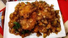 Costillas de cerdo con batatas de la Tía Betty