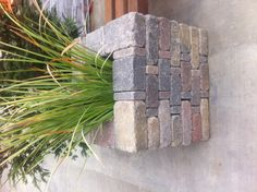 i know, it's sideways... Brick Planter...around the patio plant lemon grass or lavender to repel bugs!!