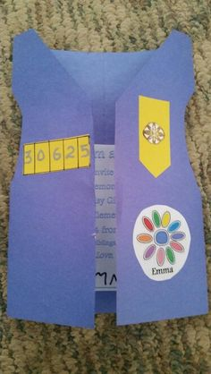 Our Daisy Girl Scout invitations to our Investiture Ceremony. I saw something like this on pinterest and figured it out. The girls are doing the cutting and pasting. So cute!
