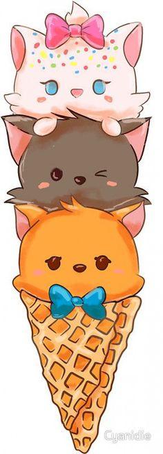 Ideas For Wallpaper Iphone Disney The Aristocats Art Kawaii, Cute Kawaii Drawings, Kawaii Anime, Funny Drawings, Cute Disney, Disney Art, Disney Pixar, Disney Characters, Cartoon Mignon