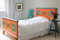 Colorful Bedroom Furniture | Color of the Month, August 2015: Cadmium Orange | This Old House