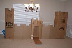 cardboard play castle