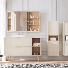 Mueble de baño que combina diseño moderno con un toque vintass en patas, lo tenemos en diferentes medidas, colores y distribuciones, entra en nuestra web y descúbrelos.
