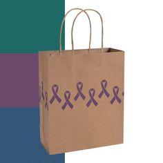 Awareness Ribbon Kraft Bags