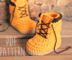 This listing is for the PATTERN only, not the finished product.    Introducting the Woodsmen construction boot. Pattern size available in 0-3mos
