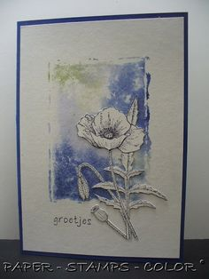 PAPER - STAMPS - COLOR: Third poppy..