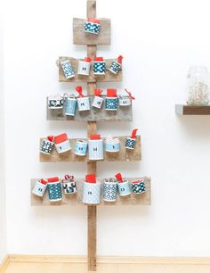 Make a scrap-wood Advent calendar. Feeling crafty? Try creating a Nordic-style tree out of small wood scraps. It would look beautiful on its own, either painted or left bare, but you can also attach small packages to turn it into an Advent calendar.