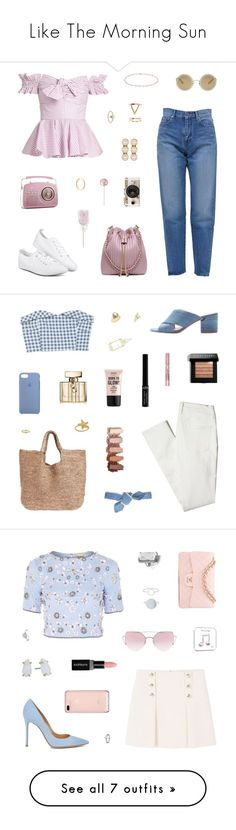 """""""Like The Morning Sun"""" by belenloperfido ❤ liked on Polyvore featuring Yves Saint Laurent, Caroline Constas, Dolce&Gabbana, Marc Jacobs, Anne Sisteron, Urban Outfitters, Forever 21, MANGO, Sigerson Morrison and Calypso St. Barth"""