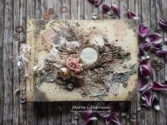 Romantic streampunk - wedding album cover tutorial by Maria Lillepruun