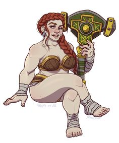"f npc Dwarf barbarian Courtesan urban city brothel saltmatey: ""a dwarf pin-up from world of warcraft Fantasy Character Design, Character Creation, Character Concept, Character Inspiration, Character Art, World Of Warcraft, Warcraft Art, Warcraft Funny, Warcraft Characters"