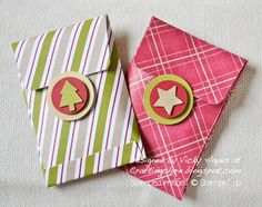 Stampin' Up ideas and supplies from Vicky at Crafting Clare's Paper Moments: Christmas gift packet tutorial