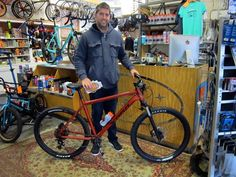 Ben with his new Kona Cinder Cone. Look for Ben riding the trails around Wilmington, NC. Have fun riding your new Kona Bicycle Ben! Looking Good! http://mockorangebikes.com/ #bicyclehobbies  #bikeaccessories  #cycleisfun  #cycleforlife