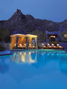 Your private candle-lit cabana awaits at @Four Seasons Resort Scottsdale at Troon North.