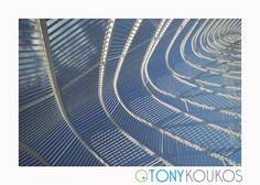 metal, curves, lines, light, shadows, art, photography, travel, Tony Koukos, Koukos