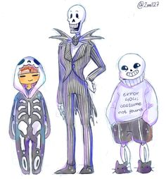 Frisk, Papyrus, and Sans. (I'm not sorry for my undertale trashyness, juste get use to it :p )