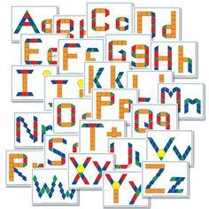 Free Alphabet Printables: Pattern Blocks