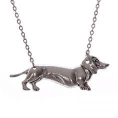 Weenie dog necklace Dog Necklace, Weenie Dogs, Silver, Jewelry, Dachshund, Jewlery, Money, Bijoux, Dachshund Dog