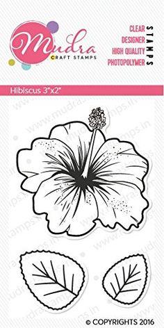 "Mudra Stamps - Hibiscus - 3""X2"""