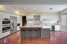 Grey Inpsired kitchen in Poggenpohl cabinetry. Lucy's Dream Kitchen. Nar Fine Carpentry. Sacramento. El Dorado Hills