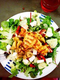 Homemade chicken & mushroom salad