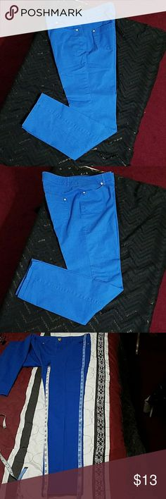 Style and Co. Royal blue pants Style and Co. Royal blue pants.  In great used condition.  Length is about 39 inches.  Inseam is about 30 inches.  Waist is about 31 inches. Style & Co Pants