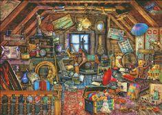 Grandmas Attic [ASTEWART15736] - $19.00 : Heaven And Earth Designs request supercolor, but not supersize